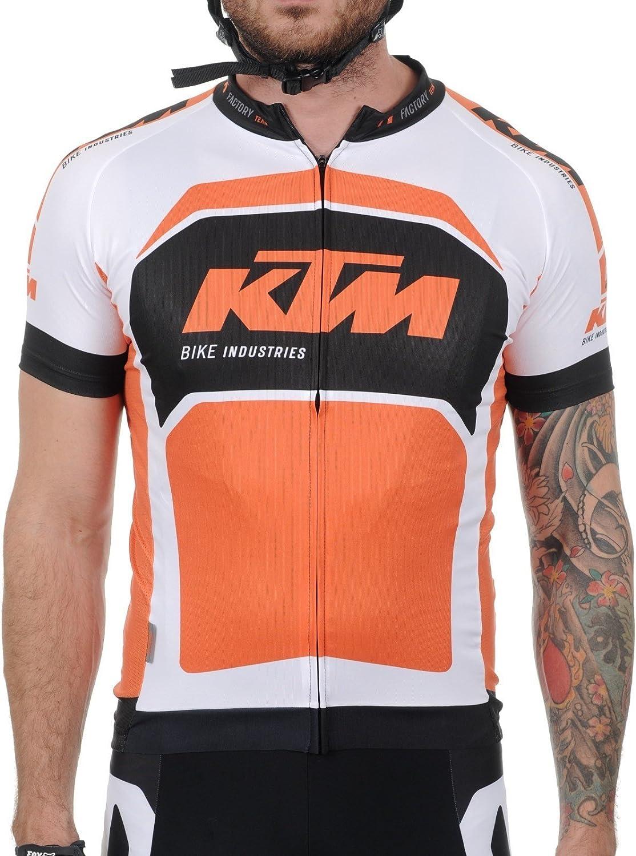 KTM Renntrikot Factory Team Race schwarz wei Orange Gr XXXL Kurzarm