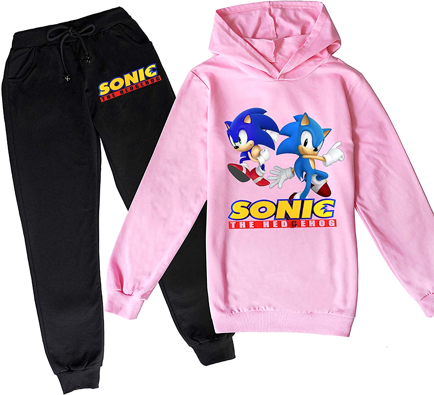 415 Youth Sonic Hoodie and Fashion Sweatpants Two-Piece Active Tracksuits for Boys and Girls