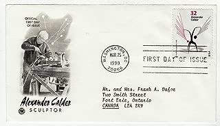 United States Alexander Calder Postage Stamp Original First Day Cover # 3202 w/Cachet Art Craft