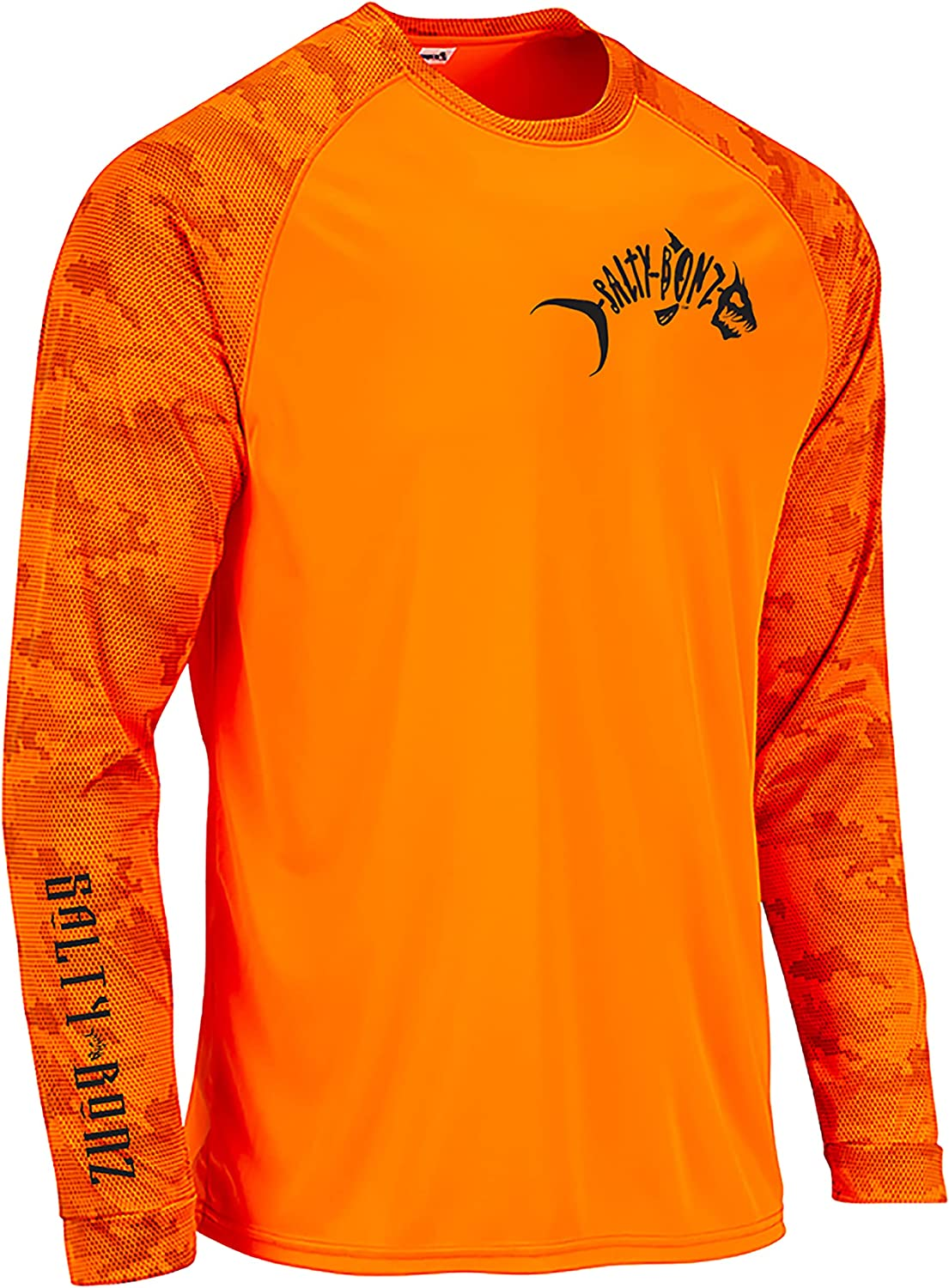 Salty Bonz Long Sleeve Moisture Wicking T- Safety and trust 50 Fishing Shirt with overseas