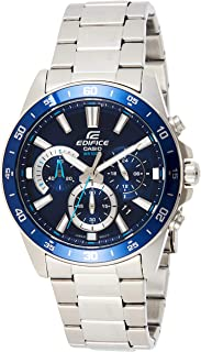 ساعة اديفيس من الستانلس ستيل بمينا ازرق كرونوغراف للرجال من كاسيو موديل EFV-570D-2AVUDF