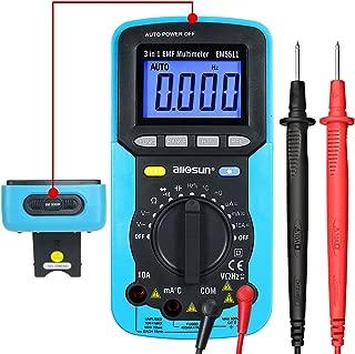 ALLOSUN 3 in 1 EMF Digital Multimeter Antorange Electromagnetic Field Radiation Tester DC AC Volt Ampt DMM