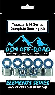 Traxxas 2wd Rustler, Stampede, Slash, Skully, Cranium, Monster Jam Series Complete Bearing Kit Set - VXL & XL5 (19 Bearings) - by DSM Off-Road