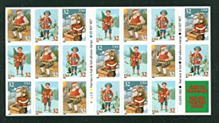 USPS Santa Claus and Child Christmas Booklet Pane of Twenty 32 Cent Stamps Scott 3011a