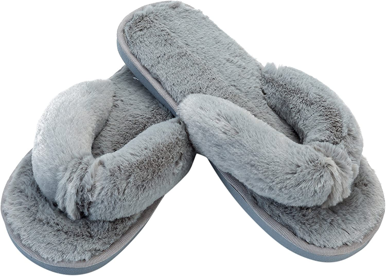 JOINFREE Womens Cozy House shoes Furry Non-Slip Bedroom Slippers