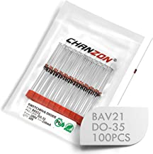 (Pack of 100 Pieces) Chanzon BAV21 Small Signal Fast Switching Diodes High-Speed Axial 250mA 200V DO-35 (DO-204AH) 250 mA 200 Volt