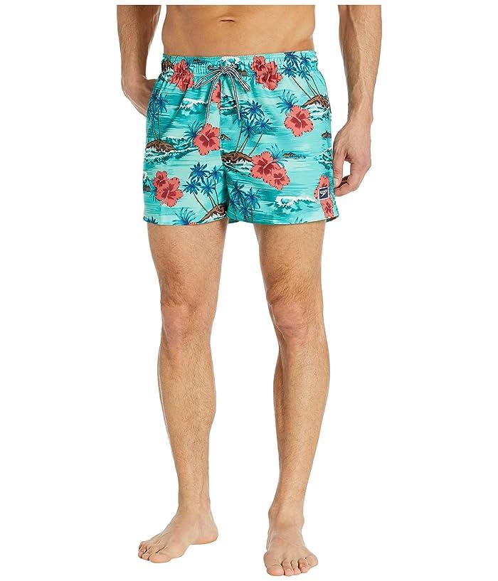 Speedo  Seaside Floral Redondo Volley 14 (Oil Blue) Mens Swimwear