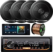 Single-DIN Digital Media Bluetooth USB SiriusXM Ready Receiver - Bundle Combo with 4X Pioneer 6.5