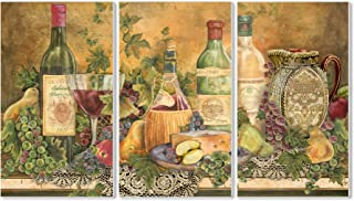 Stupell Home Décor Grapes Of Tuscany 3-Piece Triptych Wall Plaque Set, 11 x 0.5 x 17, Proudly Made in USA