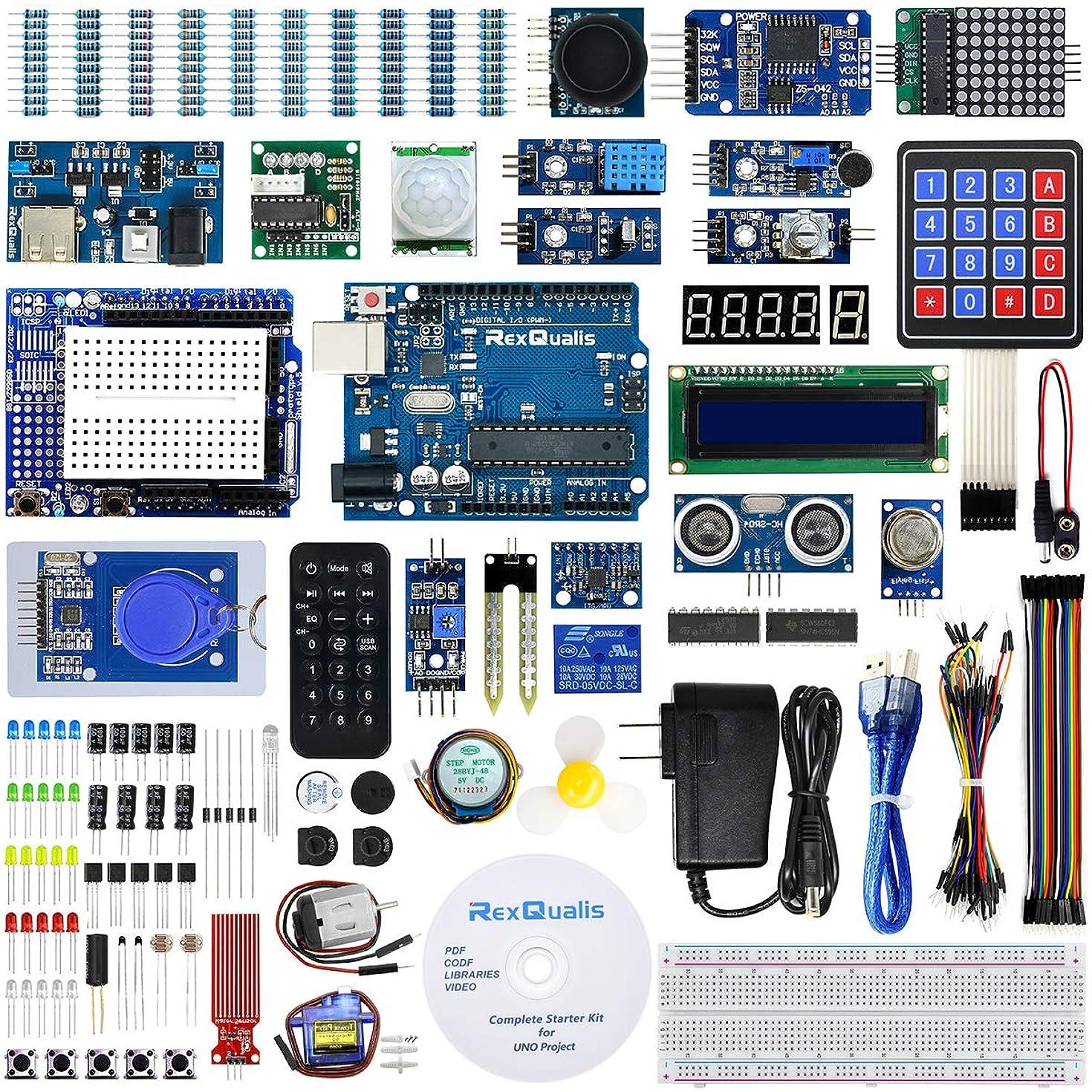 REXQualis Arduino UNO R3 Complete Starter Kit w/Detailed Tutorial for Arduino UNO