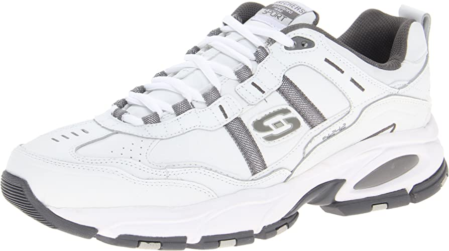 Skechers Sport Men's Vigor 2.0 Serpentine Memory Foam baskets,blanc Charcoal,11 M US