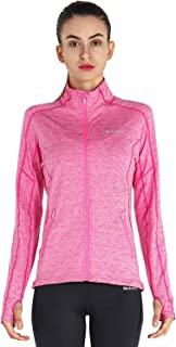 Women's Running Jacket Lightweight Full Zip Up Yoga Workout Jacket