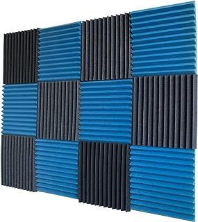 12 Pack- Ice Blue/Charcoal Acoustic Panels Studio Foam Wedges 1