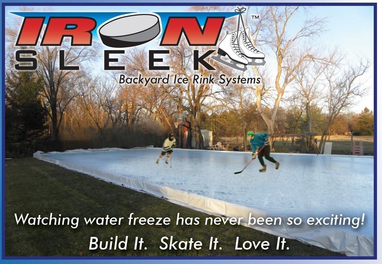 Iron Sleek Skating Rink Kit Size 20 X 46 Snow Sledding And Tubing Equipment Sports Outdoors Amazon Com Backyard rink kit canada amazon