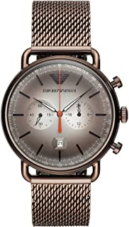 Emporio Armani - Mens Watch, Brown, Bracelet
