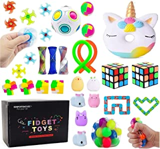 Sensory Fidget Toys Set Stress Relief Fidget Box Toys Pack for Adults Kids,Christmas Stoccking Stuffers,Birthday Party Fav...