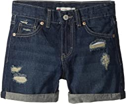 Levi's® Kids - Girlfriend Fit Shorty Shorts (Big Kids)