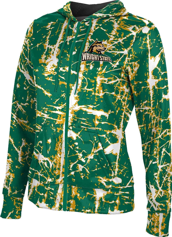 ProSphere Wright State University Girls' Zipper Hoodie, School Spirit Sweatshirt (Distressed)