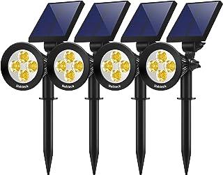 Nekteck 4 Pack Solar Light Outdoor, 2-in-1 Outdoor Solar Spotlights Powered Adjustable Wall Light Landscape Lighting, Bright and Dark Sensing, Auto On/Off for Yard, Pathway, Walkway, Garden, Driveway