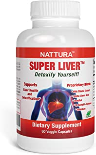 Super Liver - for Liver Health, Detoxification and Regeneration (with Milk Thistle Extract, R-Alpha Lipoic Acid, Inositol, N-Acetyl L-Cysteine, Selenium) 60 Veggie Caps (1 Bottle (60 Capsules))