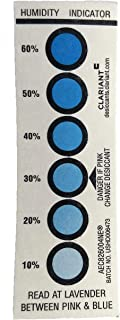 Reusable Humidity Indicator Card 20 Pack - 10% to 60%