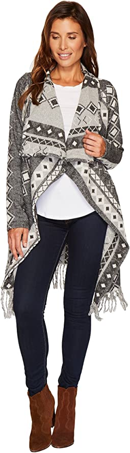 Stetson - 1479 Wool Blend Black and White Cardigan