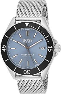 Hugo Boss Mens Quartz Watch, Analog Display and Stainless Steel Strap 1513561