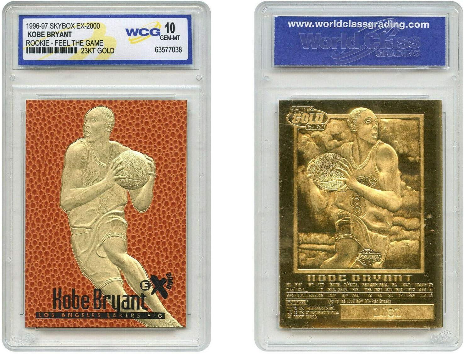 Kobe Bryant Surprise price 1996-97 SKYBOX EX-2000 Rookie 23K GEM Gifts Gold WCG Card
