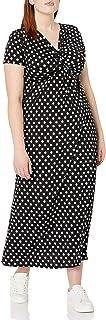 فستان ماكسي تويست من الأمام بأكمام قصيرة للنساء من ستار فيكسن