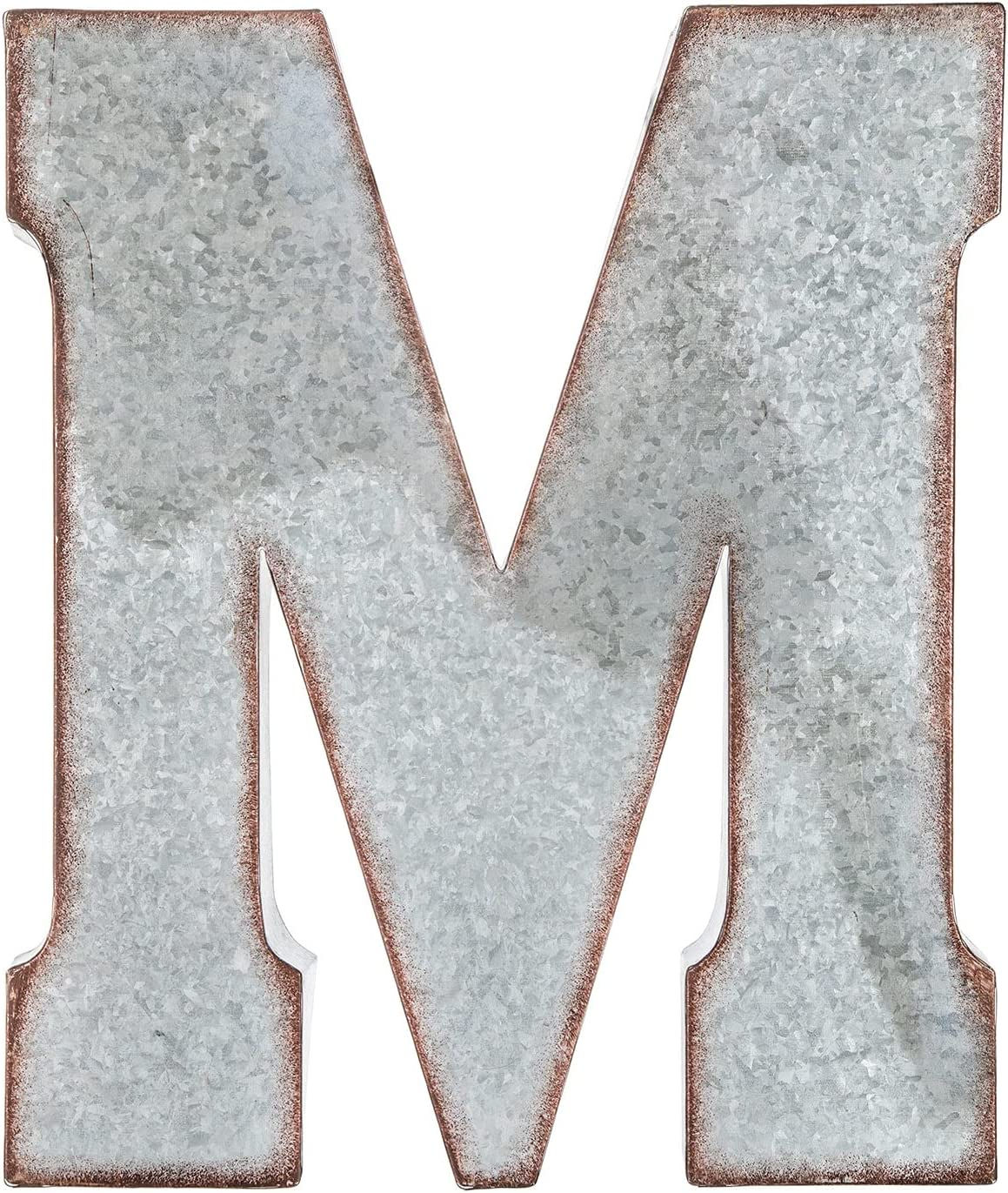 Hobby Lobby Home Décor X-Large Galvanized Rustic Industrial Metal Letter Wall Hanging Table Decor - M