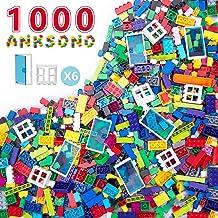 Anksono Building Bricks 1000 Pieces Set, 1000 Pcs Kids Classic Building Blocks in 11 Colors and...