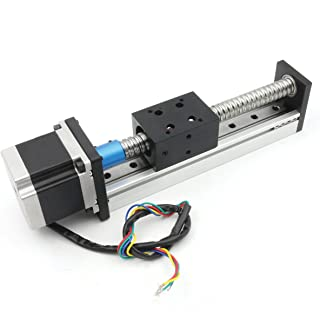 100mm Length Travel Linear Stage Actuator with Square Linear Rails + CBX1605 Ball Screw 1605 Ballscrew Motorized XY XYZ Linear Stage Table with NEMA23 Stepper Motor for DIY CNC Router Milling Machine