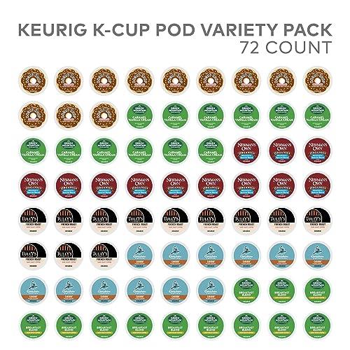 Keurig Variety Pack, Single Serve Coffee K-Cup Pod, Variety, 72, Amazon Exclusive