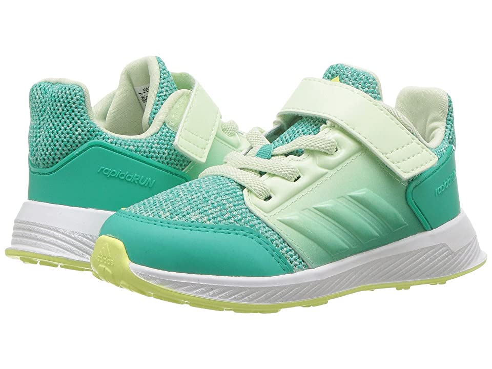 adidas Kids RapidaRun (Toddler) (Shock Mint/Aero Green) Girls Shoes