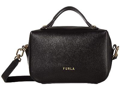 Furla Piper Mini Crossbody (Nero) Handbags