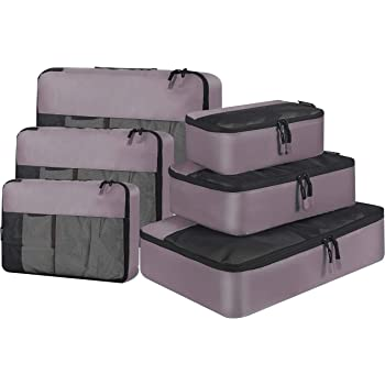 Red Floral 3 Set Packing Cubes,2 Various Sizes Travel Luggage Packing Organizers d