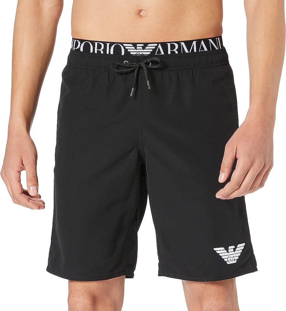 Emporio armani swimwear, costume da bagno, bermuda da uomo, 100% poliestere 211753 1P432 00020