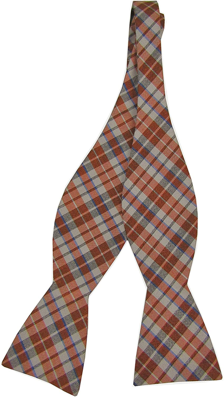 Countess Mara Men's TT Ess White Plaid Bow Tie