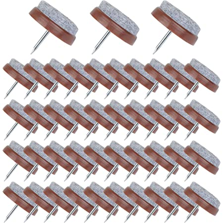Flying swallow 50 Piezas de Clavo de Almohadilla de Mueble 24 mm de Almohadilla de Fieltro