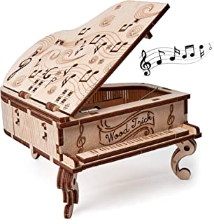 Wood Trick Toy Piano Music Box Moonlight Sonata, Wooden Musical Piano Toy Mini - 3D Wooden Puzzle, Assembly Toys, Brain Teaser for Adults and Kids