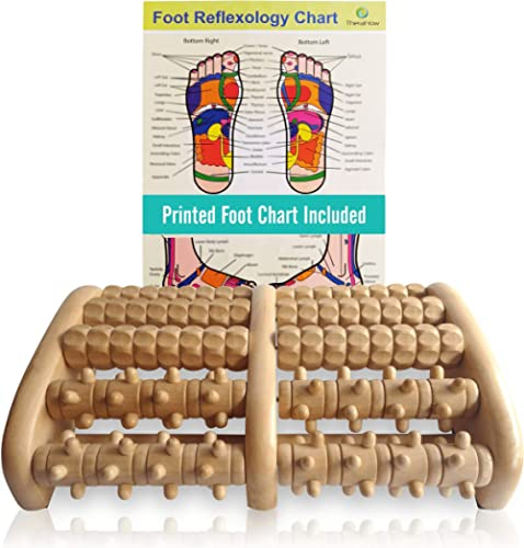 TheraFlow (XL) Dual Foot Massager Roller - Relax, Relieve Foot Pain, Plantar Fasciitis. 2019 Enhanced Model. Laminate...