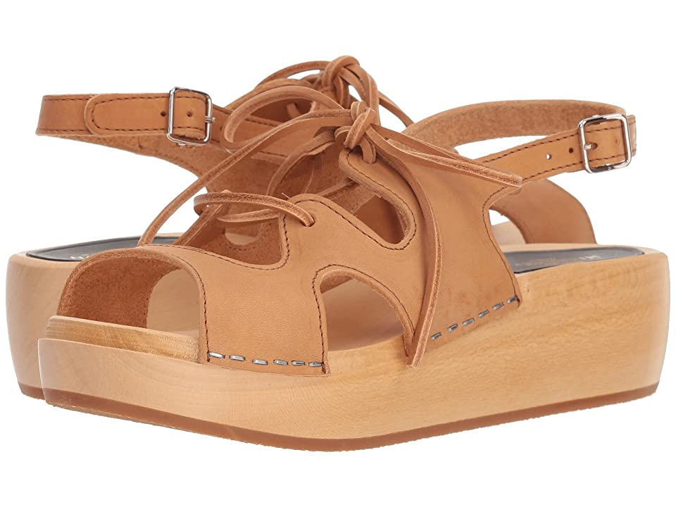 Swedish Hasbeens Lace-Up Sandal (Nature) Women