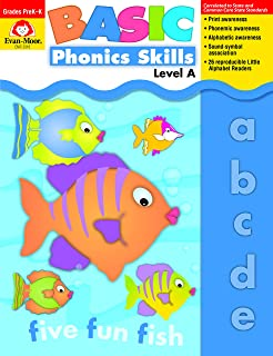 Evan-Moor Basic Phonics Skills for Grades Pre-K and K, Level A, Teacher Reproducible Pages; Teaching Resource Workbook