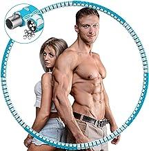 DUTISON Hula Hoop hoepel voor volwassenen, Hullahub banden, stabiele roestvrijstalen kern en langer leven, met massage-des...