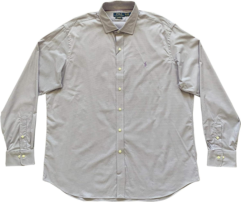 Polo Ralph Lauren Men's Casual Button-Down Shirts The Biltmore Shirt (XX-Large, Purple Mu/White)