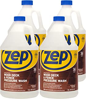 Zep Wood Deck and Fence Pressure Wash Cleaner Concentrate 128 Ounce ZUDFW128 (Case of 4)