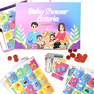 LALIPOP'S Loteria Baby Shower- Baby Shower Bingo- Baby Shower Loteria Fun For 30 Players- Spanglish Friendly- For Girl or ...