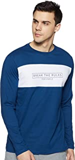 Amazon Brand - Symbol Men's Plain Regular Fit T-Shirt