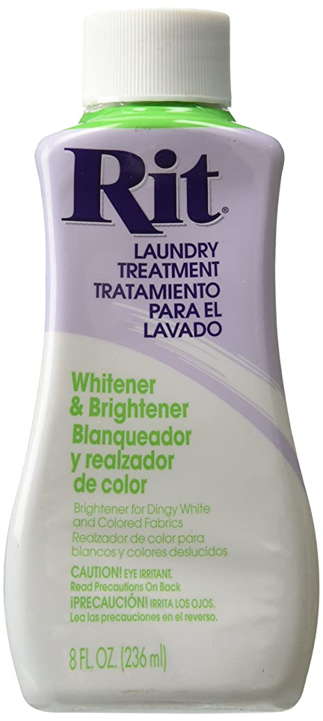 Rit Dye Liquid Fabric Dye, 8-Ounce, Whitener and Brightener