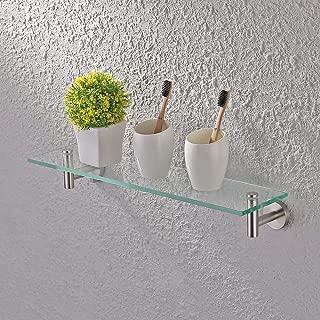 glass shelf with rail for bathroom